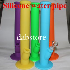 Top selling silicone glass water pipe ,non-stick glass water pipes , silicone bongs with glass accessories , for free shipping by DHL