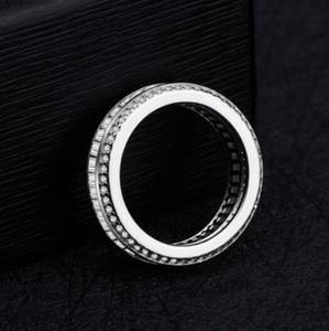 Authentic 925 Sterling Silver Espumante Arco Nó Anel Empilhável Micro Pavimentar CZ para Mulheres e homens Jóias de Casamento