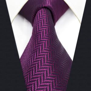 C11 Mor Katı İpek Erkek Kravat Kravat Düğün Klasik Kravatlar erkek Elbise Aksesuar Hanky ekstra uzun boyutu için