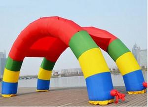 Sconti Twin Arches 26ft * 13ft D = 8M / 26ft Arcobaleno gonfiabile Arch