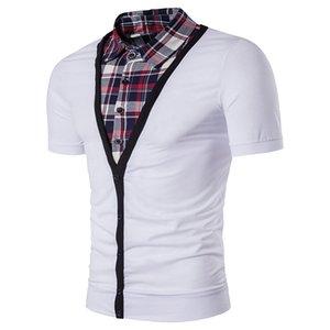 무료 배송 New Fashion Polo T 셔츠 남성 슬립 Fit False 슬립 팬츠 2 분 소매 반팔 T 셔츠