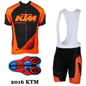 2017 ktm jerseys de Ciclismo Ropa de Hombre Traje Ropa de Bicicleta Jersey Bib Shorts set mtb ropa de bicicleta deporte jersey ropa de ciclismo