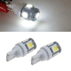 50 x ho brillo 12V 5050 5 SMD LED T10 5SMD 168 194 Car Turn Signal Side Tablero de instrumentos interior Bombilla de luz