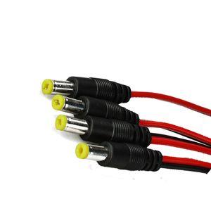5.5 * 2.1 mm cable de alimentación de CC macho 12V monitor no blindado Twisted Power Cables de cobre para la cámara CCTV