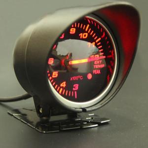 60mm 2.5 인치 DEFI BF 스타일 레이싱 미터 자동차 배기 가스 온도계 적색 흰색 빛 내열 온도 센서