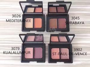 Make-up-Duo-Augenbrauen-Schatten-Pulver-MattErd Zwei Farben-Augenschminke-langlebige natürliche Zweifarbenpalette