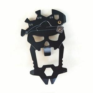 Skull Edc Pocket Tool 12 في 1 مجموعة أدوات متعددة الوظائف - فتاحة زجاجات في الهواء الطلق مفك البراغي وجع سكين مبراة