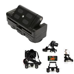 Caméra de tricycle pliable Voitures de train Table Dolly Voiture Vidéo Slider Traker 1/4 '' plaque de montage à vis pour caméra DSLR pour Gopro