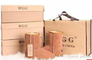 Фабрика горячая 2017 классический бренд WGG женщины популярные Австралия натуральная кожа сапоги мода женщин снег сапоги US5--US10