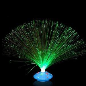 Yenilik Renk Değiştirme LED Örgü Optik Fiber Işık Nightlight Lambası Parlak Parlayan Aydınlatma Ev Tatil Parti Dekorasyon ZA3554