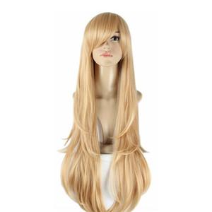 WoodFestival 100 cm de largo pelucas de anime para mujer arte de la espada en línea cosplay peluca resistente al calor pelucas sintéticas recta asuna yuuki trenza peluca