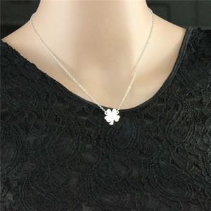 Горячая продажа четыре листа клевера ожерелье трилистник ожерелье счастливый Шарм ожерелье для счастливых девочек