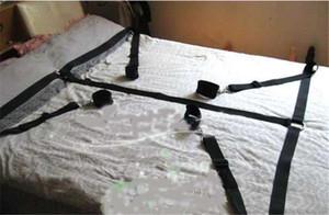 Conjunto de produtos de Bondage cama Adulto Jogos Brinquedos Set Algemas de Mão Algemas Chicote de Corda Venda de Casais Brinquedos Eróticos cadeia brinquedos SM pode ajustar