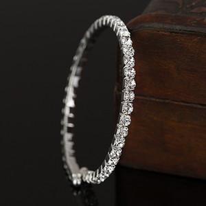 Envío gratis nuevas mujeres / moda de la muchacha astilla llena cristal austriaco claro pulseras regalo joyería B044