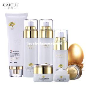 collagen protein face skin care set cleanser face cream toner emulsion bb cream eye cream anti-aging beauty cosmetics caicui new