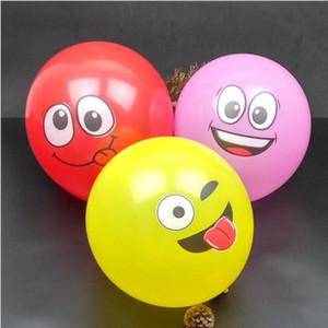 12 polegadas bolas infláveis Decoração Eco-Friendly do partido para Multicolor Cartoon Face Expression Latex Balões do partido aleatórios Balões de ar