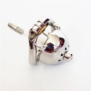 40 ملليمتر سوبر قصيرة المعادن قفص الديك مع الإحليل الأصوات 304 # المقاوم للصدأ ذكر العفة قفص صغير العفة أجهزة جديدة للرجال