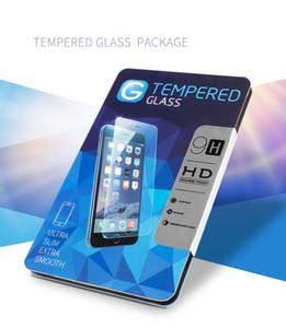 50 pcs pacote de papel embalagem caixa de varejo com alça de inserção para iphone6s samsung s7 telefone móvel tela de vidro temperado protecto