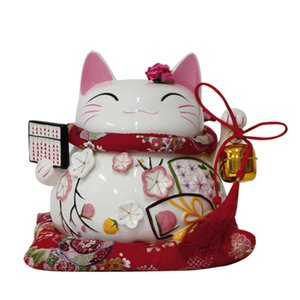 Authentique Chine Lucky Cat véritable boulier japonais Lucky Cat grands ornements en céramique / cadeau d'affaires / vacances