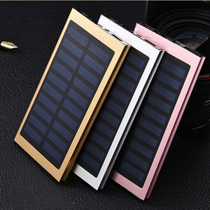 8000mAh Solar Charger and Battery Solar Panel portable power bank Aluminum Shell for Cell phone Laptop Camera MP4 With Flashlight waterproof