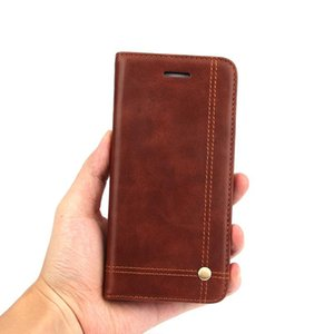 Luxury Vintage Leather Flip Magnetic Phone Case Card Slot Wallet Cover Case for iphone 11 Pro Max XS XR 8 7 6S Plus