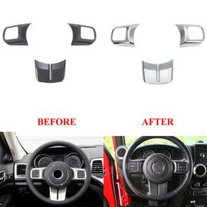 Accessori decorativi interni dell'automobile della copertura della struttura della copertura dell'interruttore del bottone del volante 3pcs per Jeep Grand Cherokee 2011-2013