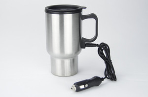 Car Heating Cup Auto Heating Vacuum Bottle Electric Kettle Cars Thermal Heater Water Canteen Boiling Auto Accessories Stainless Steel Cups