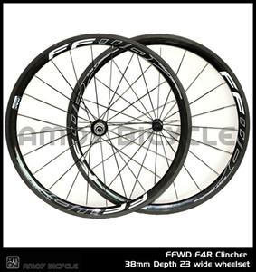무료 배송 38mm Tubular / Clincher 그레이 F4R 페인트 카본 700C 도로 자전거 바퀴 세트