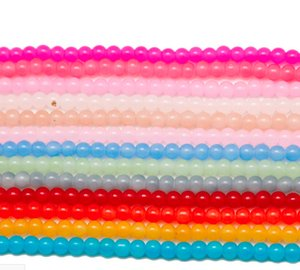 Novo 500 pcs misturado Rodada Crystal Glass Solto Spacer Beads Para Fazer Jóias 4mm 6mm 8mm