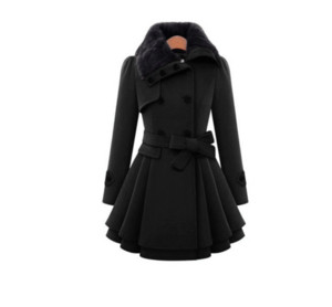 S-4xl mujer invierno chaquetas salvajes abrigos largos gruesos abrigos de lana abrigo de lana chaqueta cruzada vestido de invierno de piel