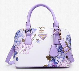 Hochwertige Damen Totes klassische heiße Plain Damen PU Lederhandtaschen Floral Totes Qualität Mode Schalen Paket Reißverschluss Paket