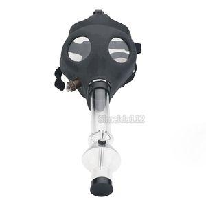 Gaz maskesi sigara su borusu kuru ot buharlaştırıcı Akrilik Nargile Boru Filtre Sigara Boru