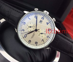 2019 Cuero Negro Movimiento superior de la manera Mens mecánico oro del acero inoxidable reloj automático para hombre mismo-viento Relojes de pulsera
