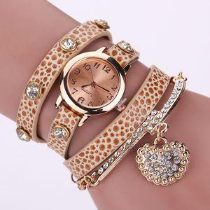 Wengle ew 2017 Mode Wicklung Leopard Korn Liebe Wiederherstellen alter Wege Handketten Uhr