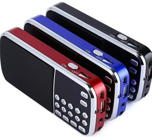 L-088 Altifalante Portátil MP3 Player de Música de Áudio FM Rádio Altifalante com Lanterna USB AUX TF Slot 10 pcs up