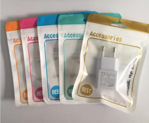 Zipper lock Plastic OPP poly Bag Box For USB charger data cable audio earphone iphone 11 Pro Max Samsung Galaxy S20 Plus