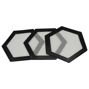 Ücretsiz kargo !! Altıgen şekil Food Grade yapışmaz Silikon Pişirme Mat Dabber Levhalar silikon dab mat yüksek kalite