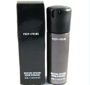 Alta qualità! NUOVO Faced Prep + Prime Moisture Infusion Siero Hydratant Primer 50 ml bottiglie di vetro liquido fondazione DHL LIBERA il trasporto + REGALO