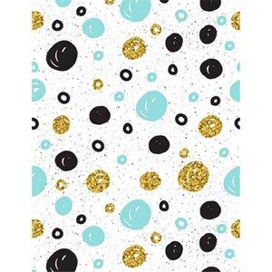 Черный Синий Золотой Polka Dots Фото Обои напечатанную Детские Новорожденный Фото Prop Дети Дети студии фотографического фона