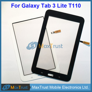 "Top Quality 7.0"" For Samsung Galaxy Tab 3 Lite T110 Touch Screen Digitizer Front Glass Panel Sensor Wifi Version Black White Color"