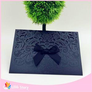 10sets Atacado-convites de casamento cartões partido decoração lembranças do chuveiro de bebê corte fontes do casamento de laser rendas convites