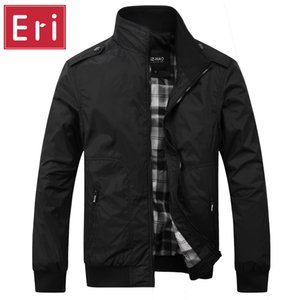 Wholesale- Brand Men's Jacket Casual Black Fashion British Style New Autumn 2017 Men Business Brochure Designer  Jackets 4XL X412