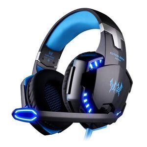 Auriculares Stereo Gaming para PS4 Xbox, Auriculares para colocar sobre la oreja con micrófono, luces LED y control de volumen para computadora portátil, PC, Mac, iPad, teléfonos inteligentes
