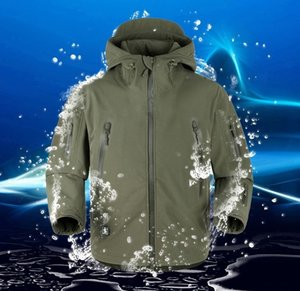 Men Outdoor-Jagd-kampierende wasserdichter Mantel-Armee-Mantel Oberbekleidunghoodie-Lurker Shark Skin Soft Shell Military Tactical-Jacken-Mantel