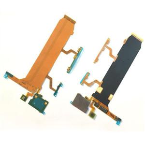 Nuevo tablero principal Conecte el botón de la energía del volumen de la flexión del LCD Botón del lado Cable de la flexión del mic para Sony Xperia Z Ultra XL39H C6802 C6833 Envío gratis