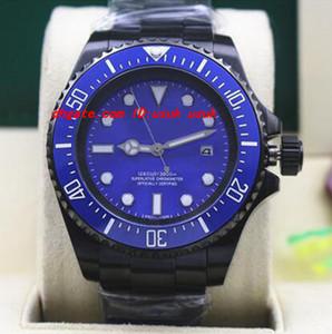 Relógio de Pulso de luxo PVD Revestimento 116660 Mens Aço Inoxidável Dial Azul Cerâmica 44 MM Homens Mecânicos Relógios de Qualidade Superior