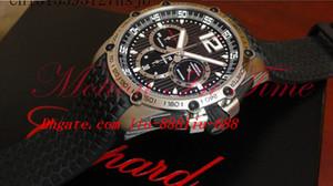Роскошные часы новые мужские классические гонки супер + быстрый резиновый ремешок T кварц Япония дата хронограф наручные часы