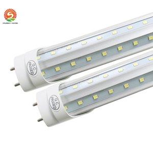 T8 LED Tüp Işık soğutucu kapısı AC85-265 led dükkan ışık için 6FT 5FT 4ft V şekli Çift Glow Light 8ft 2 pin G13