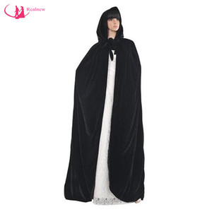 New Style Velvet Cloak Satin Liner Women Wedding Cape Hooded Autumn Winter Bridal Cloak 100% High Quality