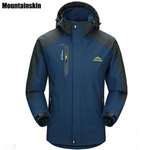 Wholesale- Mountainskin 5XL erkek Ceketler Su Geçirmez Bahar Kapşonlu Palto Erkek Kadın Giyim Ordu Katı Casual Marka Erkek Giyim, SA153